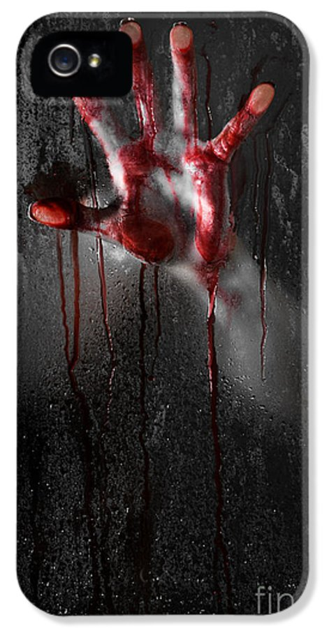 Horror IPhone 5 Case featuring the photograph Bloody Hand by Jt PhotoDesign
