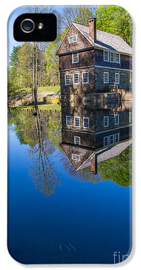 Cornish IPhone 5 Case featuring the photograph Blow Me Down Mill Cornish New Hampshire by Edward Fielding
