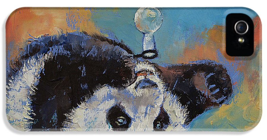 Baby IPhone 5 Case featuring the painting Blowing Bubbles by Michael Creese