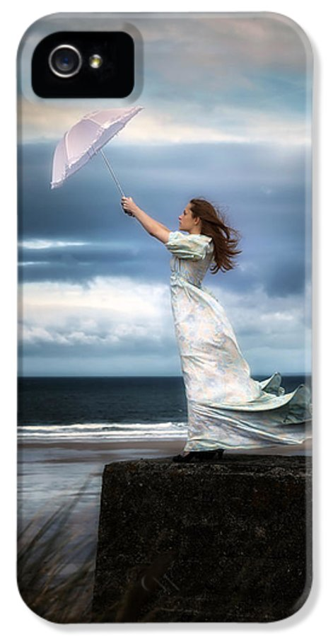 Woman IPhone 5 Case featuring the photograph Blowing In The Wind by Joana Kruse