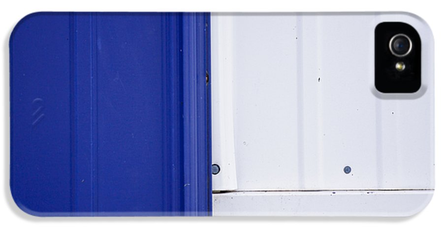 Abstract IPhone 5 Case featuring the photograph Blue And White by Christi Kraft