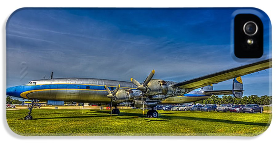 Lockheed Super Constellation IPhone 5 Case featuring the photograph Blue And Yellow Connie by Marvin Spates