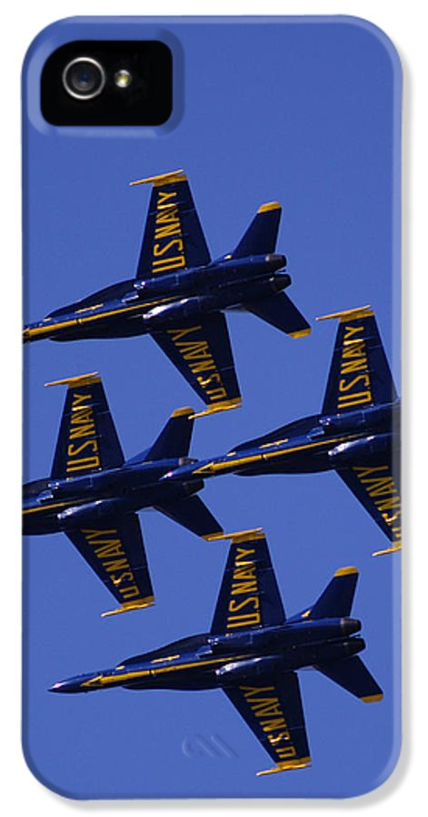 Airshows IPhone 5 Case featuring the photograph Blue Angels by Bill Gallagher