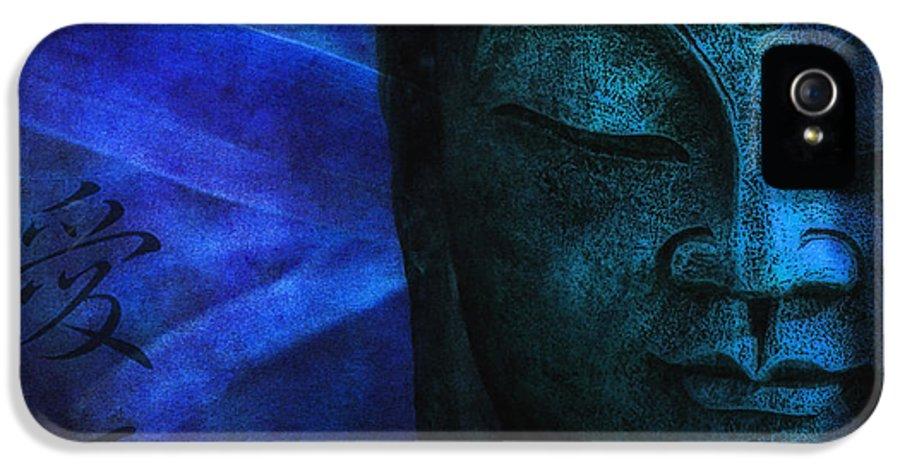 Buddha IPhone 5 Case featuring the photograph Blue Balance by Joachim G Pinkawa