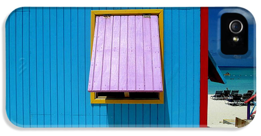 Caribbean Corner IPhone 5 / 5s Case featuring the photograph Blue Cabin by Randall Weidner