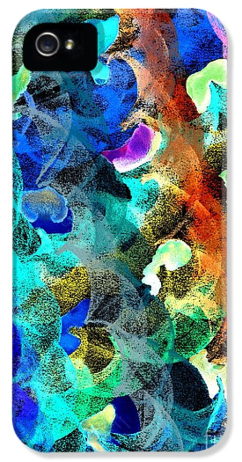 Abstract IPhone 5 Case featuring the digital art Blue Chain by Julio Haro