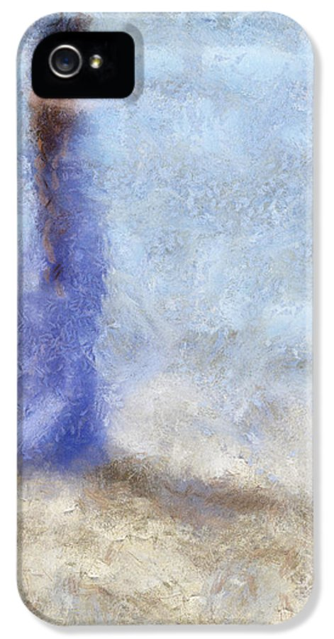 Impressionism IPhone 5 Case featuring the photograph Blue Dream. Impressionism by Jenny Rainbow