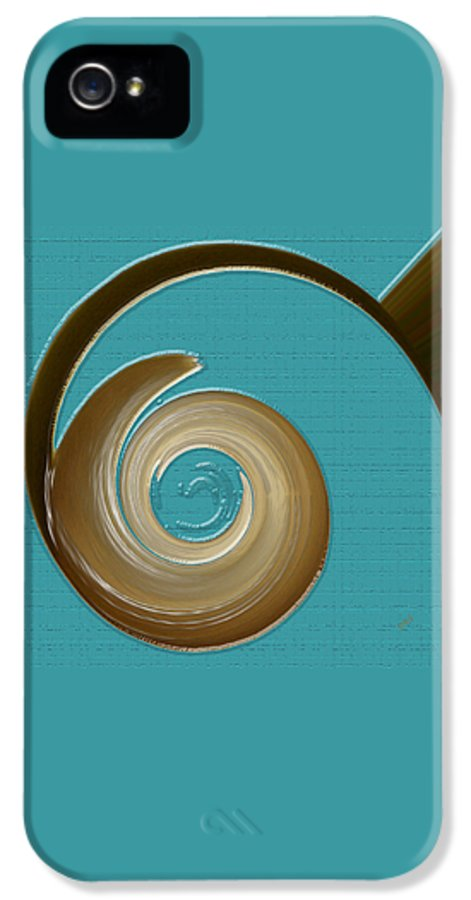Blue Abstract IPhone 5 Case featuring the digital art Blue Motion by Ben and Raisa Gertsberg