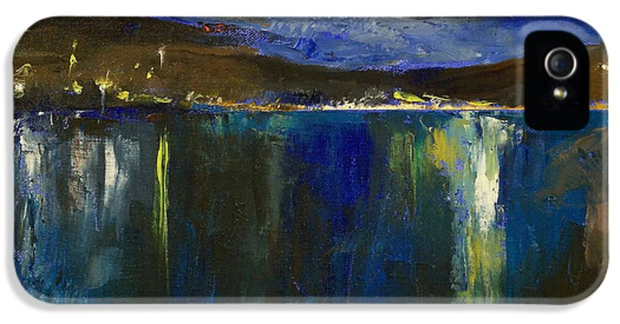 Blue IPhone 5 Case featuring the painting Blue Nocturne by Michael Creese