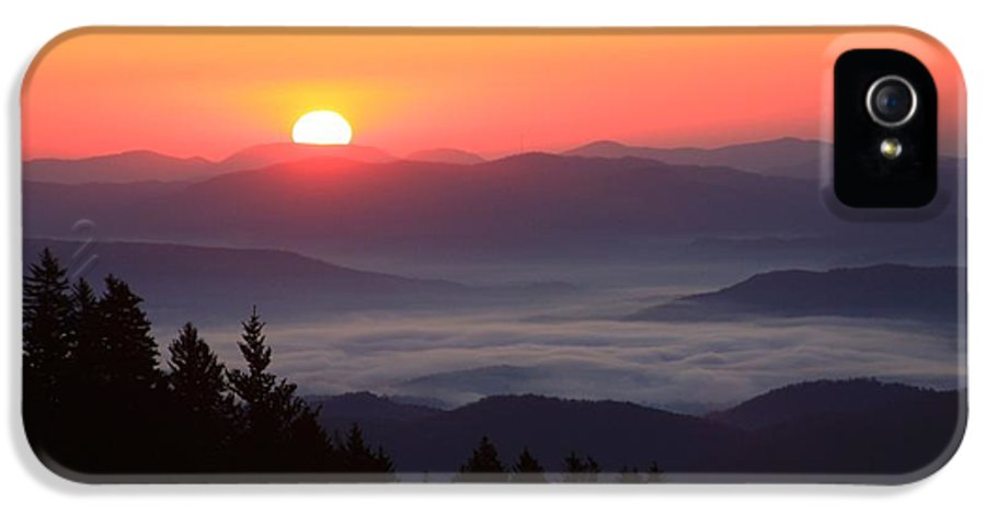 Michael Weeks IPhone 5 Case featuring the photograph Blue Ridge Parkway Sea Of Clouds by Mountains to the Sea Photo