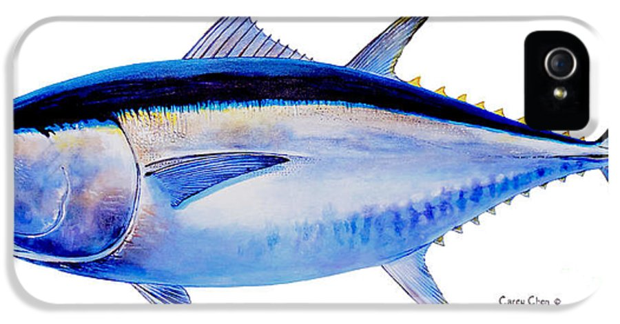 Bluefin IPhone 5 Case featuring the painting Bluefin Tuna by Carey Chen