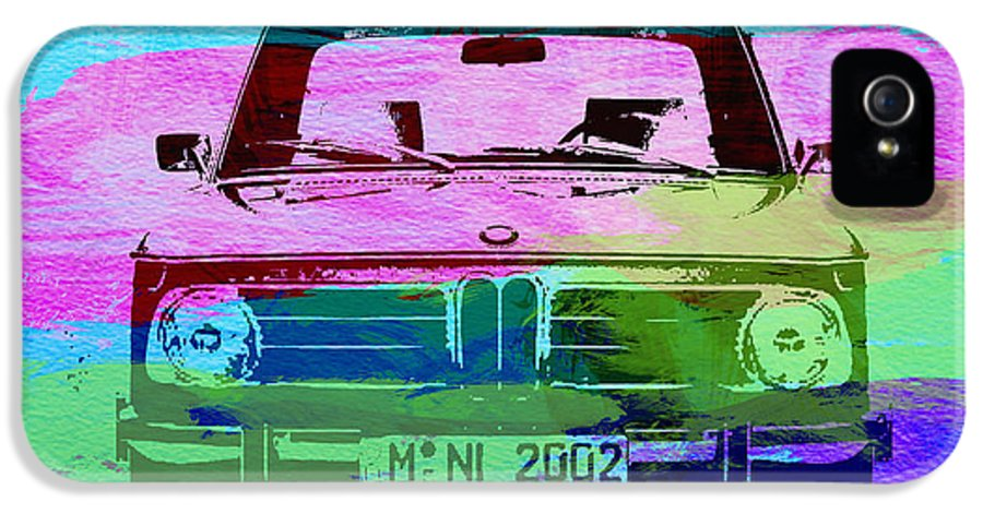 Bmw 2002 IPhone 5 Case featuring the photograph Bmw 2002 Front Watercolor 1 by Naxart Studio