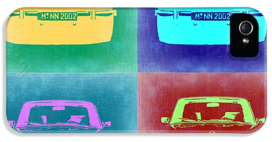 Bmw 2002 IPhone 5 Case featuring the painting Bmw 2002 Pop Art 1 by Naxart Studio
