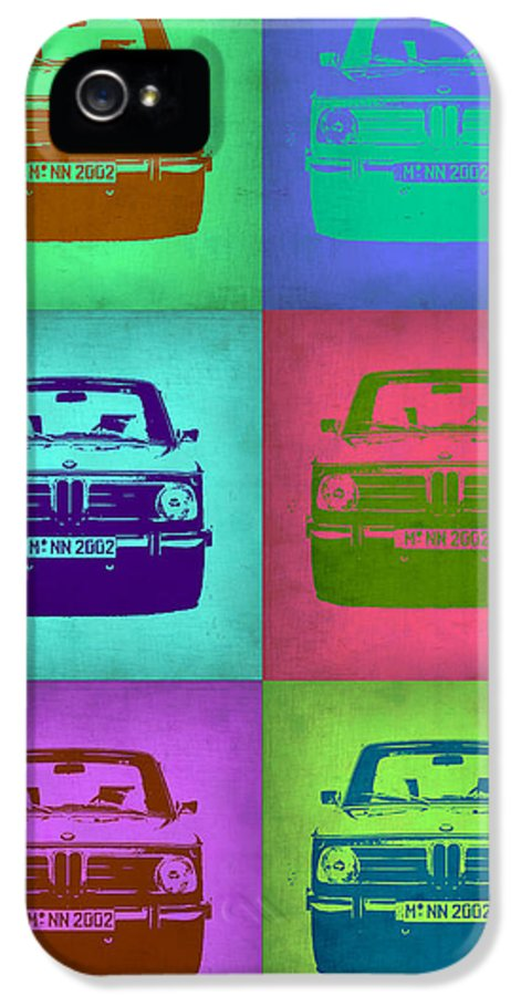 Bmw 2002 IPhone 5 Case featuring the painting Bmw 2002 Pop Art 2 by Naxart Studio