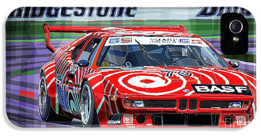 Automotive IPhone 5 / 5s Case featuring the digital art Bmw M1 1979 by Yuriy Shevchuk