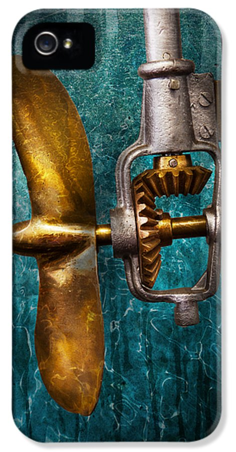 Hdr IPhone 5 Case featuring the photograph Boat - Propulsion by Mike Savad