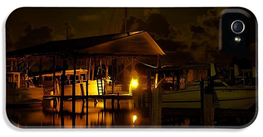 Alabama IPhone 5 Case featuring the digital art Boathouse Night Glow by Michael Thomas