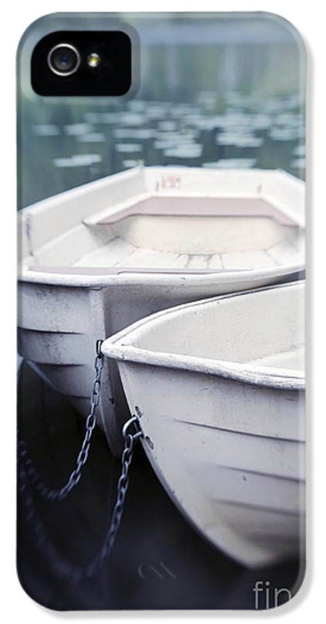 Boat IPhone 5 Case featuring the photograph Boats by Priska Wettstein