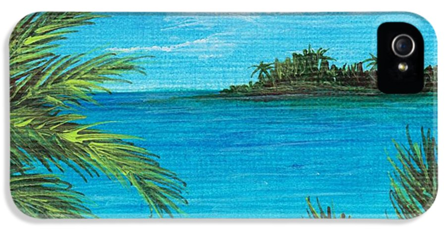 Interior IPhone 5 Case featuring the painting Boca Chica Beach by Anastasiya Malakhova