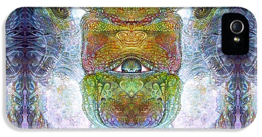 \bogomil Variations\ \otto Rapp\ \ Michael F Wolik\ Surrealism IPhone 5 Case featuring the digital art Bogomil Variation 15 by Otto Rapp