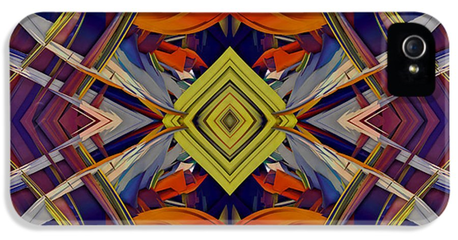 Abstract IPhone 5 Case featuring the digital art Boldness Of Color by Deborah Benoit