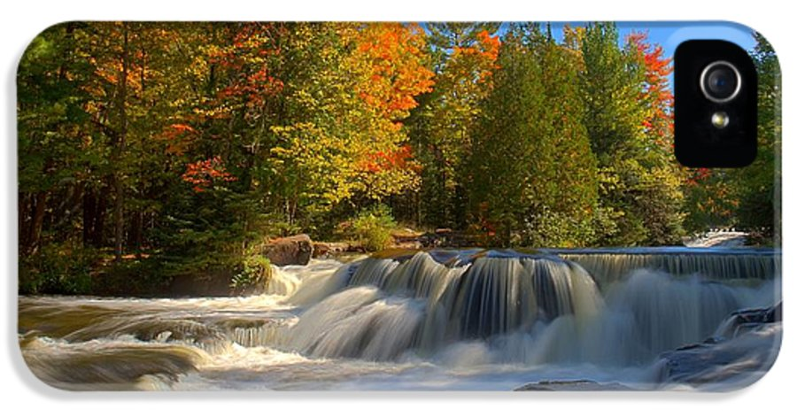 Landscape IPhone 5 Case featuring the photograph Bond Falls by John Absher