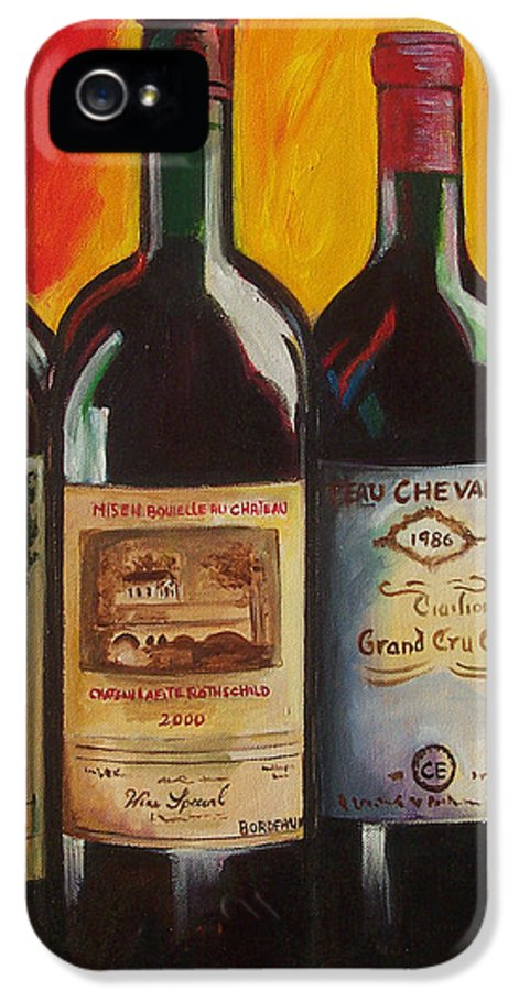 Wine Painting IPhone 5 Case featuring the painting Bordeaux by Sheri Chakamian