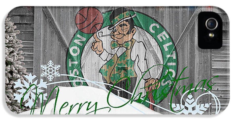 Celtics IPhone 5 Case featuring the photograph Boston Celtics by Joe Hamilton