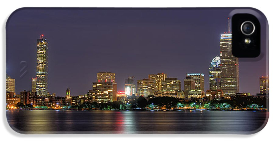 Boston IPhone 5 Case featuring the photograph Boston From Memorial Drive by Joann Vitali