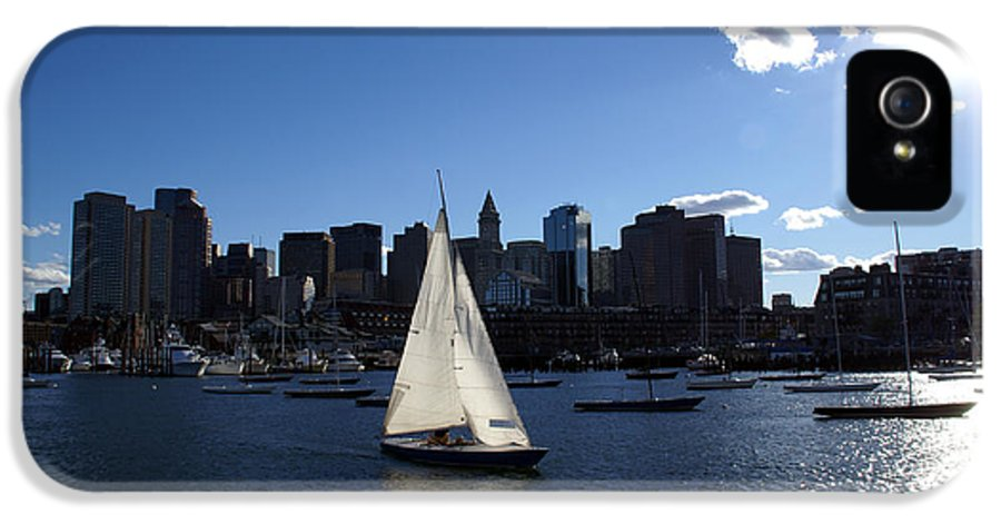 Boston IPhone 5 Case featuring the photograph Boston Harbor by Olivier Le Queinec