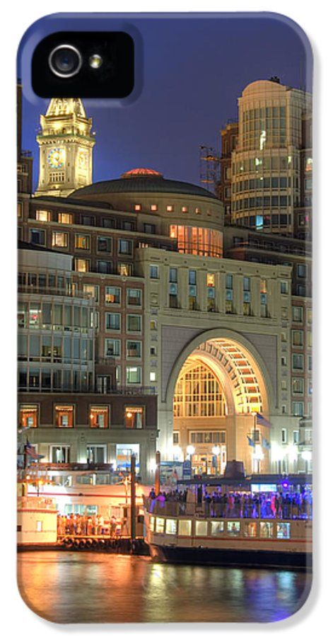 Boston IPhone 5 Case featuring the photograph Boston Harbor Party by Joann Vitali