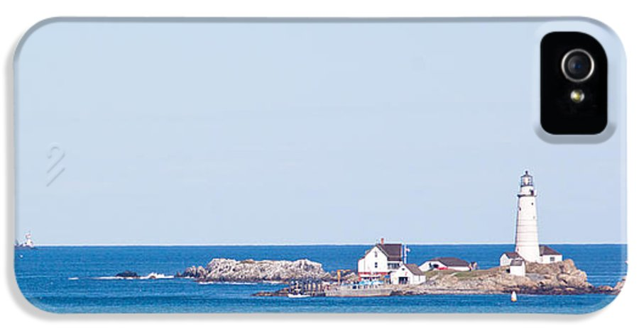 Boston Lighthouse IPhone 5 / 5s Case featuring the photograph Boston Lighthouse by Georgia Fowler