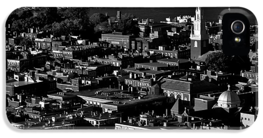 Boston IPhone 5 Case featuring the photograph Boston Old North Church Black And White by Benjamin Yeager