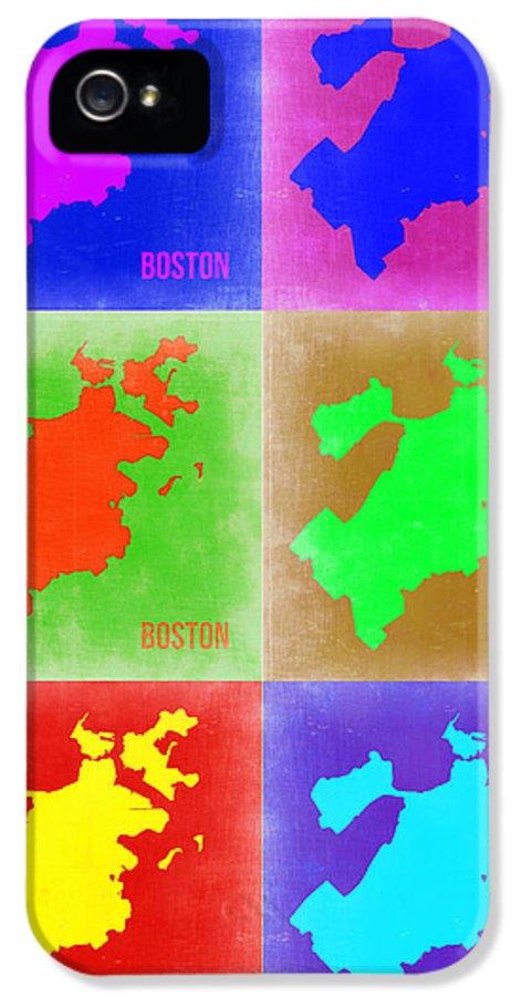 Boston IPhone 5 Case featuring the painting Boston Pop Art Map 3 by Naxart Studio