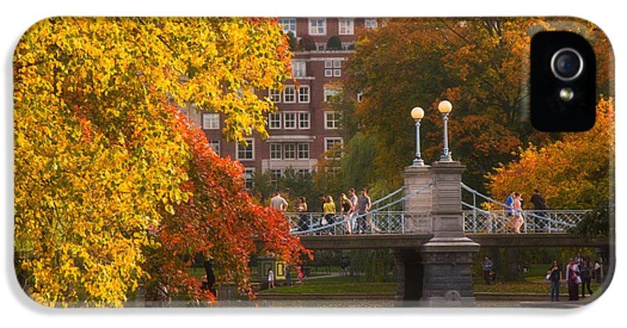 Willow IPhone 5 Case featuring the photograph Boston Public Garden Lagoon Bridge by Joann Vitali