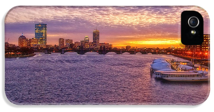 Boston IPhone 5 Case featuring the photograph Boston Sky by Joann Vitali