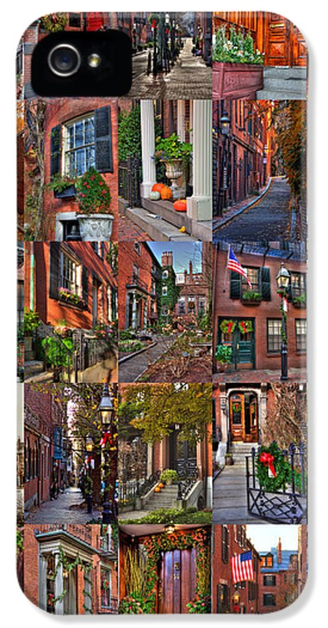 Beacon Hill IPhone 5 Case featuring the photograph Boston Tourism Collage by Joann Vitali