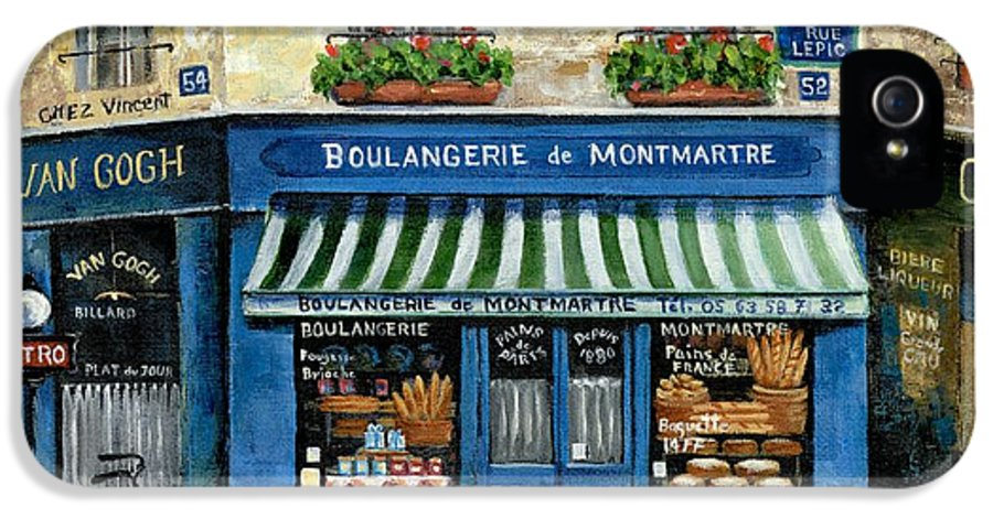 Europe IPhone 5 Case featuring the painting Boulangerie De Montmartre by Marilyn Dunlap