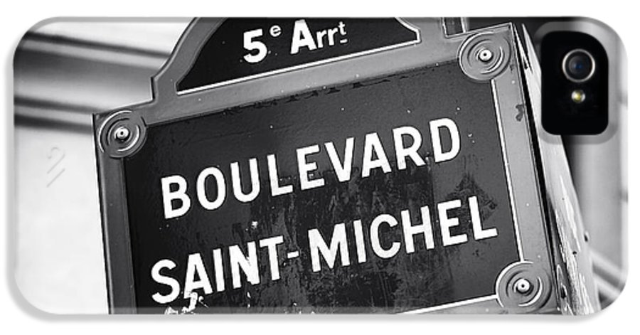 Boulevard Saint-michel IPhone 5 Case featuring the photograph Boulevard Saint-michel by John Rizzuto
