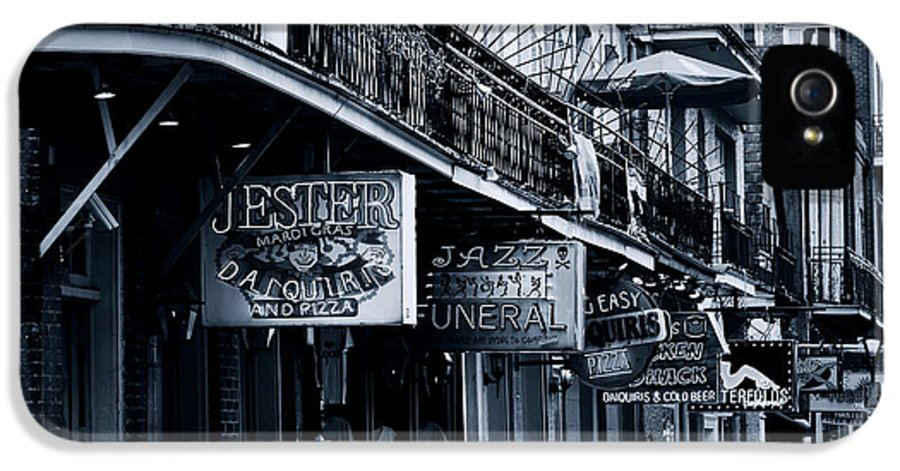 Neon IPhone 5 Case featuring the photograph Bourbon Street New Orleans by Christine Till