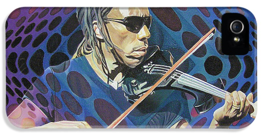 Boyd Tinsley IPhone 5 Case featuring the drawing Boyd Tinsley Pop-op Series by Joshua Morton