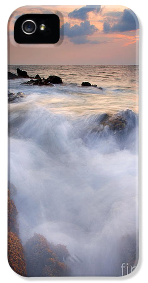 Kameole Beach IPhone 5 Case featuring the photograph Break In The Storm by Mike Dawson