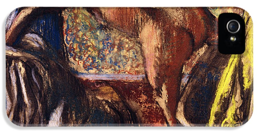 Apron IPhone 5 Case featuring the painting Breakfast After The Bath Le Petit Dejeuner Apres Le Bain by Edgar Degas
