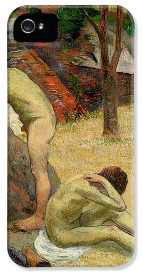 Boy IPhone 5 Case featuring the painting Breton Boys Bathing by Paul Gauguin