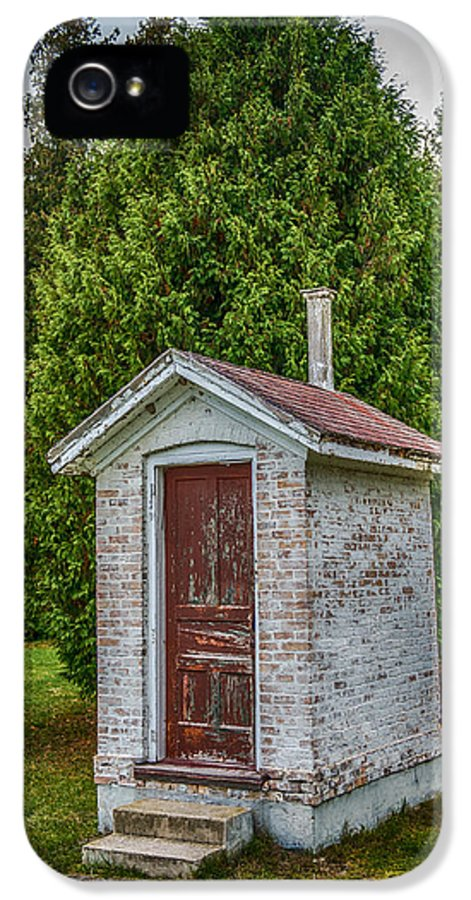 Paul IPhone 5 Case featuring the photograph Brick Outhouse by Paul Freidlund