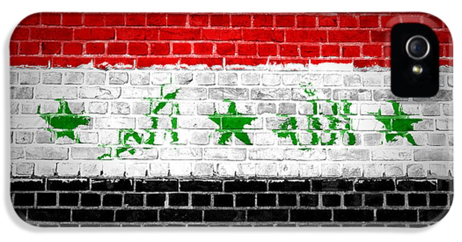Iraq IPhone 5 Case featuring the digital art Brick Wall Iraq by Antony McAulay