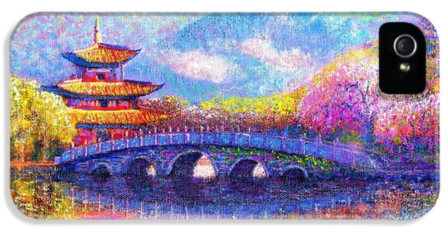 Bridge IPhone 5 Case featuring the painting Bridge Of Dreams by Jane Small