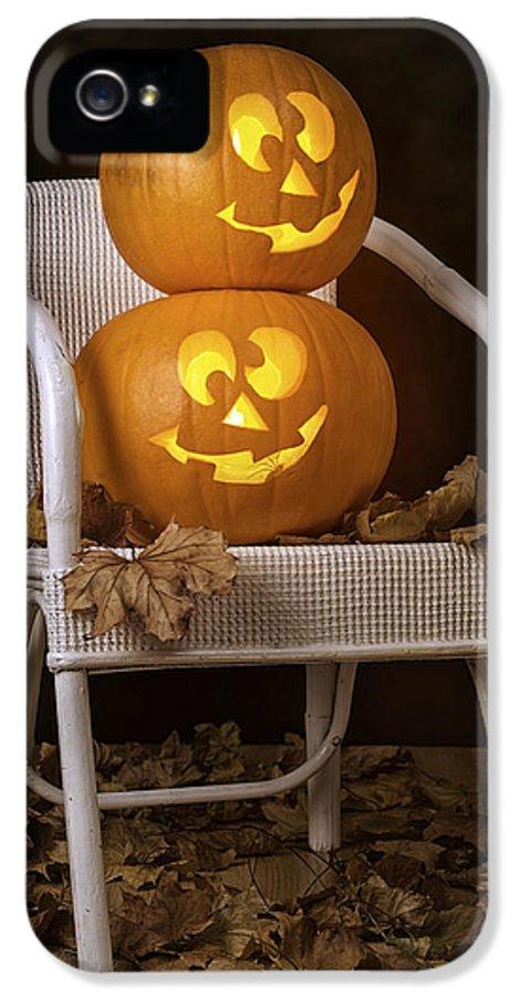 Autumn IPhone 5 Case featuring the photograph Brightly Lit Jack O Lanterns by Amanda Elwell