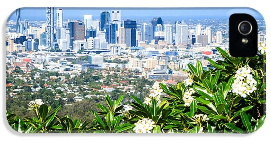 Australia IPhone 5 Case featuring the photograph Brisbane Cbd by Silken Photography