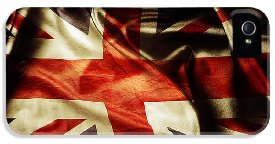 Flag IPhone 5 Case featuring the photograph British Flag by Les Cunliffe
